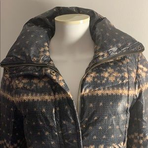 Winter Coat with Knit Design Size Small